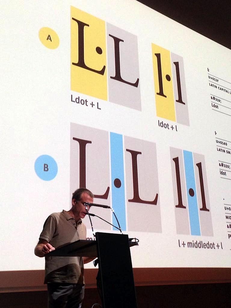 Text i pantalles de la ponència «The Geminated El» presentada a l'ATypI 2014